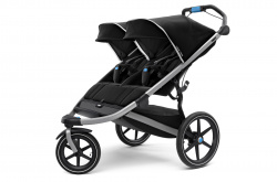 10101927 Коляска детская Thule Urban Glide 2 Double Jet Black - фото